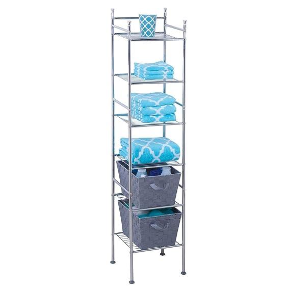 Amazon.com: Gabinete para Baño Resistente A La Corrosión Torre De Metal De 6 Niveles: Kitchen & Dining