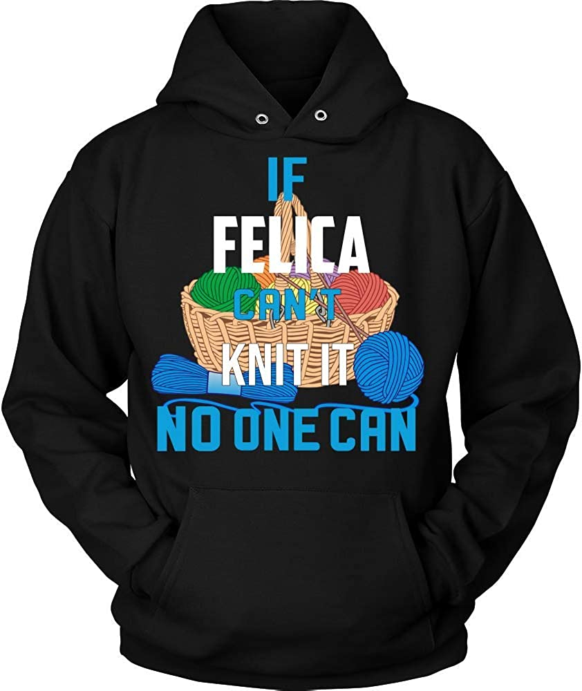 NO ONE CAN Hoodie Black IF Felica Cant Knit IT