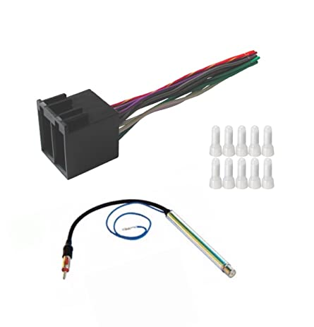 61IKcIJyfuL._SY463_ amazon com asc audio car stereo radio wire harness and amplified  at readyjetset.co