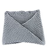 UGG Women's Sequoia Twisted Solid Knit Snood Grey Heather Scarf One Size