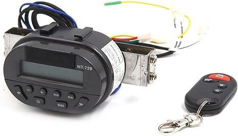 Sourcingmap Support sur Guidon Moto MT729 Syst/ème Audio MP3 Radio Commande /à Distance
