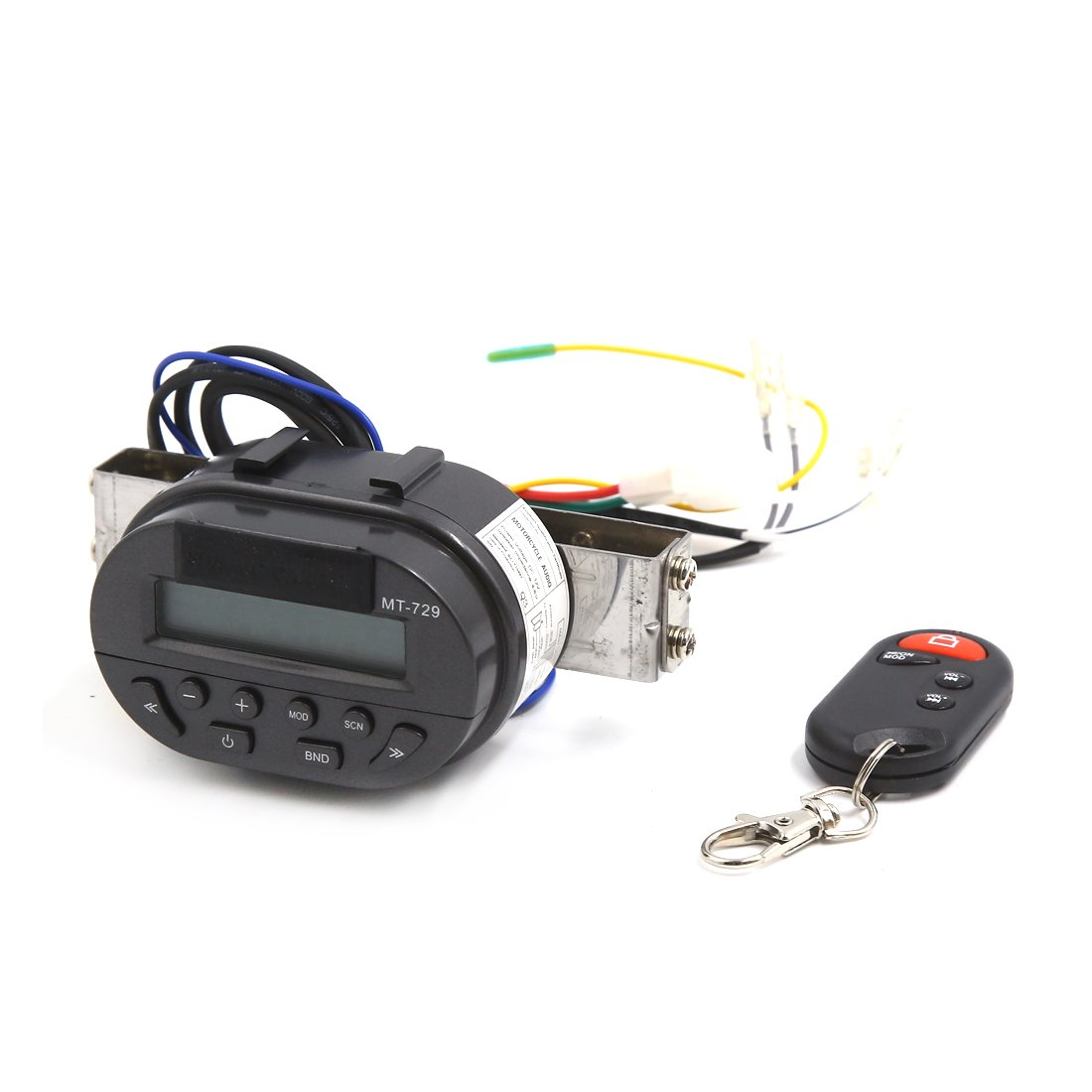 uxcell MT729 Motorcycle Handlebar Mount Audio Radio System MP3 Player Remote Control