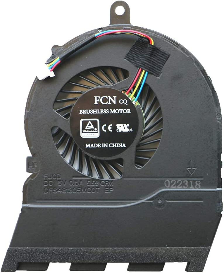 New Laptop CPU Cooling Fan for DELL Inspiron 5565 P66F 5567 17-5767 CN-0789DY (Color : Default)