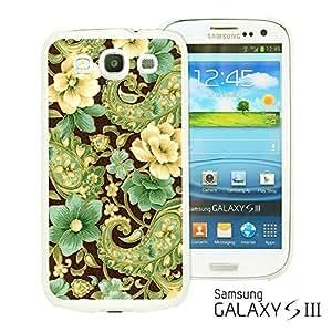 OnlineBestDigital - Flower Pattern Hardback Case for Samsung Galaxy S3 III I9300 - Elegant Gold Pisley