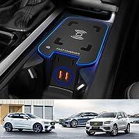 Draadloze Autolader voor Volvo XC90 XC60 S90 V90 V60 S60 2021 2020 2019 Accessoirepaneel Middenconsole, 15W QC3.0 Snel…