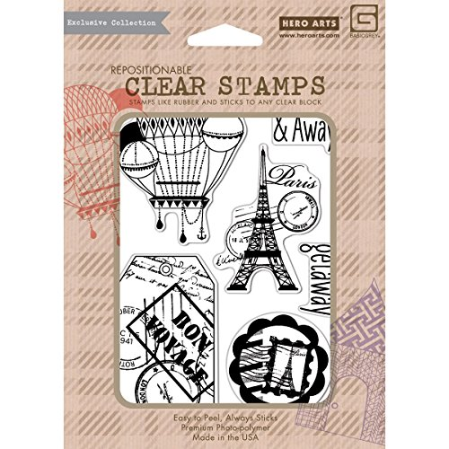 What's Up Away Clear Stamp Co Branded With Hero Arts (Basic Grey)