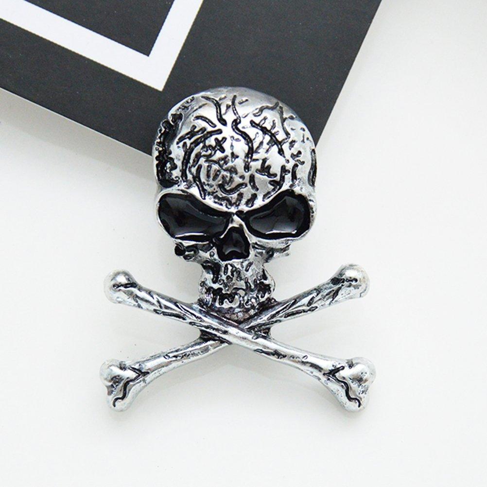 Argent LUOEM Broche os Broche Broche Squelette Punk Gothique Punk pour Le Costume de soir/ée