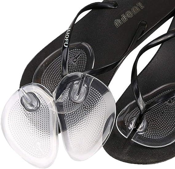 つま先 インソール,トングカバー付 ジェルインソール 靴ズレ防止 底まめ保護 鼻緒保護痛み緩和 衝撃吸収 履物 下駄 ビーチサンダル 透明2足4枚セット