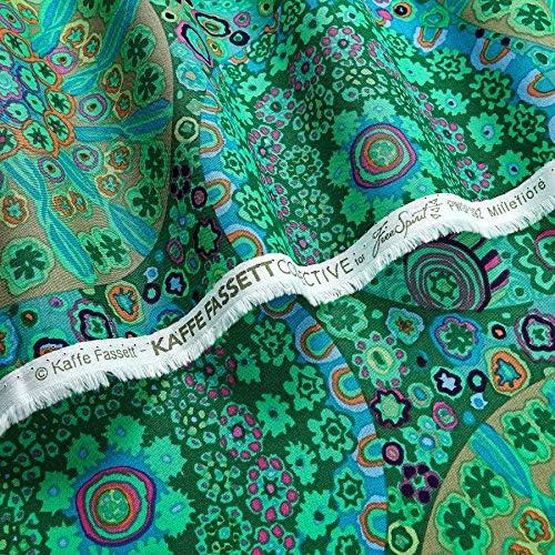 Kaffe Fassett Collective Millefiori Jade Quilt Fabric 100/% Cotton BTY