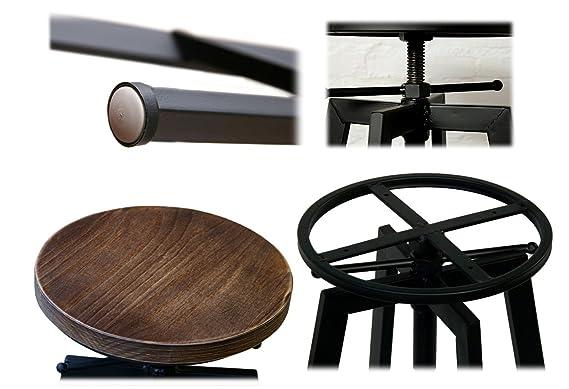 Set di sgabelli regolabile yako metallo legno design lusso