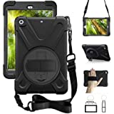 ZenRich iPad Mini Case iPad Mini 2 Case iPad Mini 3 Case-zenrich Rotatable with Kickstand Hand Strap and Shoulder Strap…