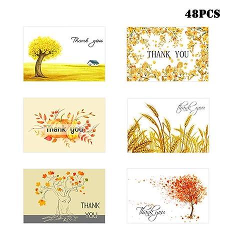 Amazon.com: Tarjetas de felicitación de agradecimiento ...