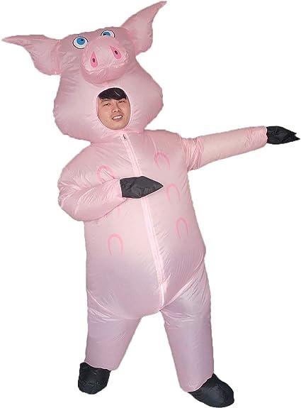 Amazon.com: Disfraz hinchable de cerdo para adultos, para ...