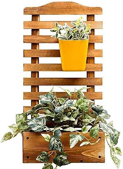 CCJW Jardinera De Madera Rectangular De Jardín con Celosía para Enredaderas Jardín De Escalada Maceta Caja De Jardín Patio De Madera Enrejado Panel - L: 30XW: 16XH: 60cm: Amazon.es: Hogar