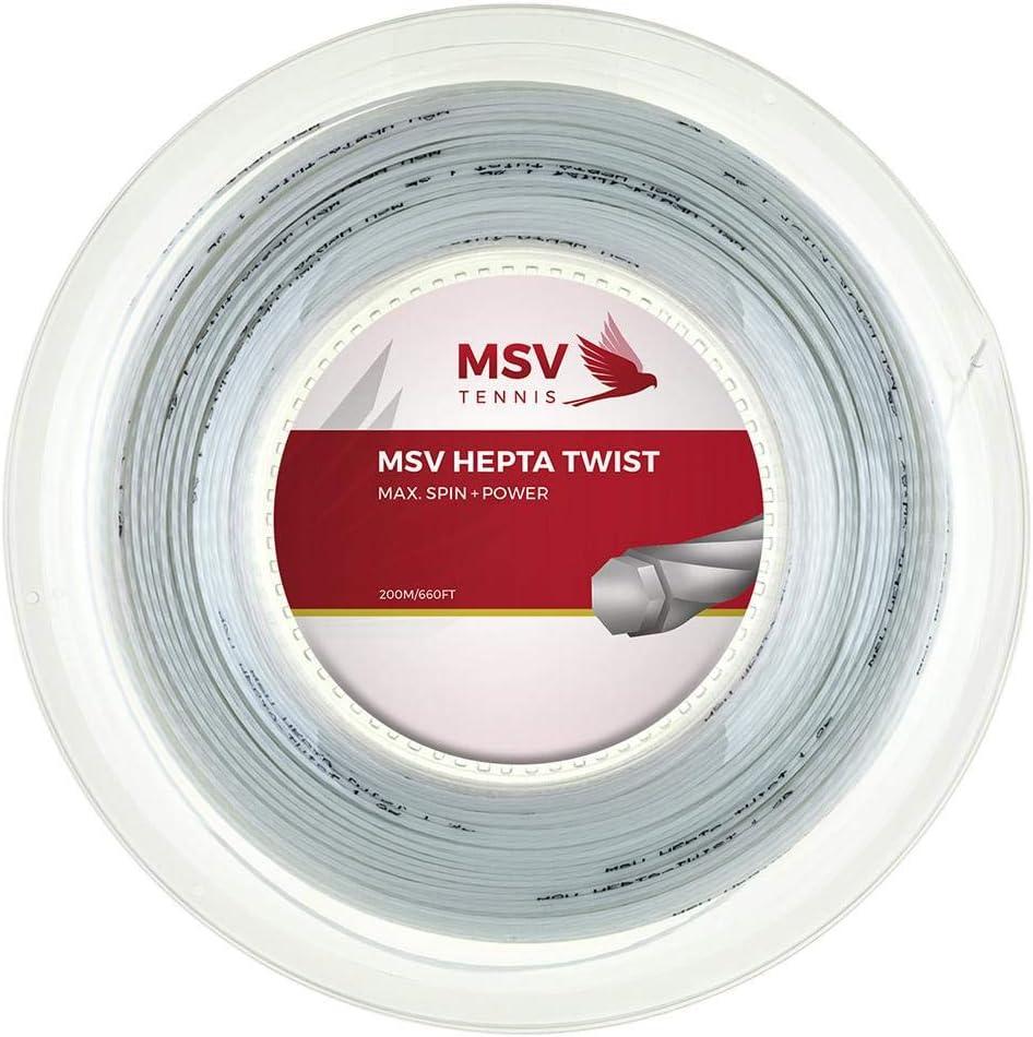 1.20mm//17G MSV Tennis string HEPTA TWIST 200meter Reel NEW, GENUINE