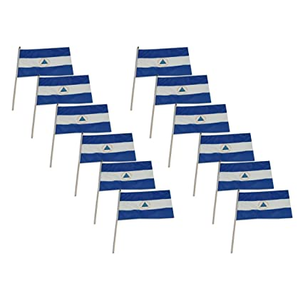 "12/"" x 18/"" NICARAGUA FLAG  12x18 CENTRAL AMERICA FLAGS18"