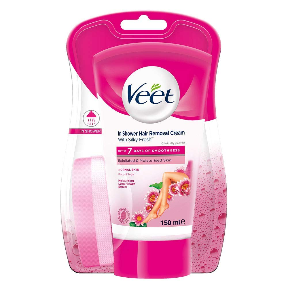 Buy Veet In Shower Hair Removal Cream Normal Skin 150 Ml Online