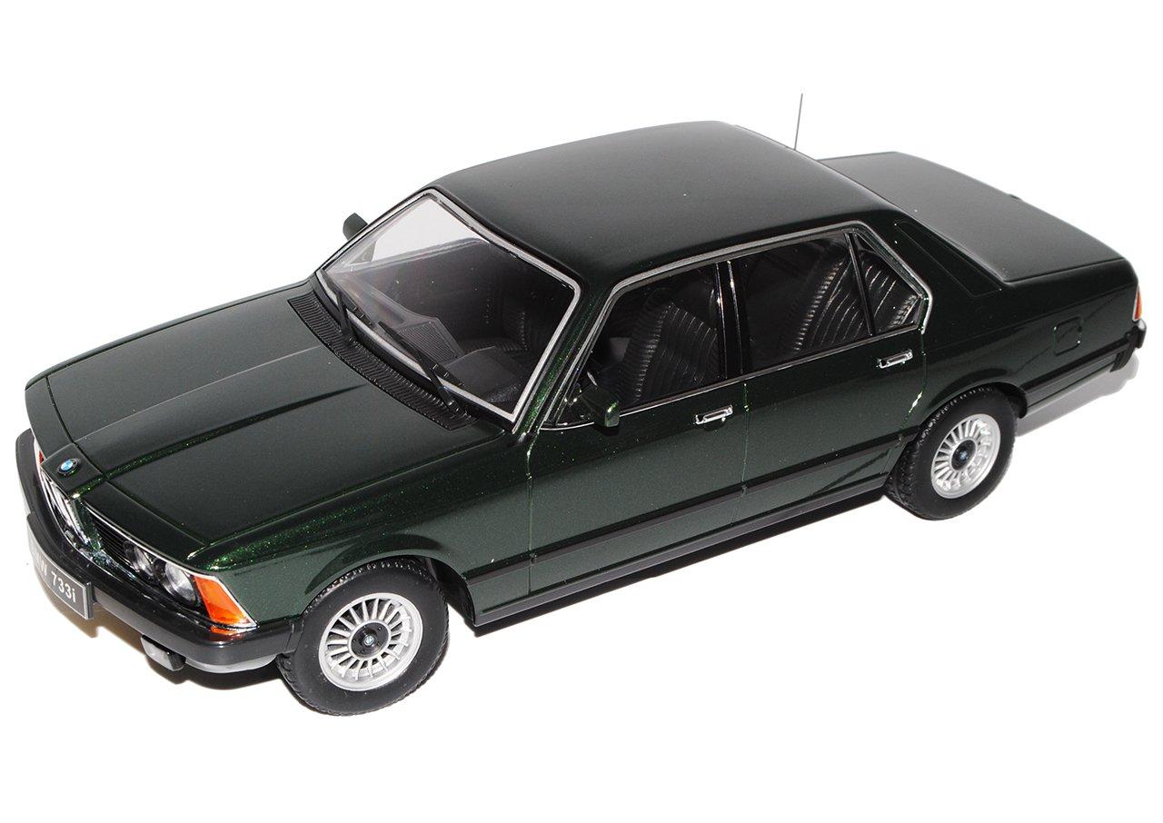 KK-Scale BMW 7er 733i E23 Limousine Dunkel Grün 1977-1986 1/18 Modell Auto mit individiuellem Wunschkennzeichen