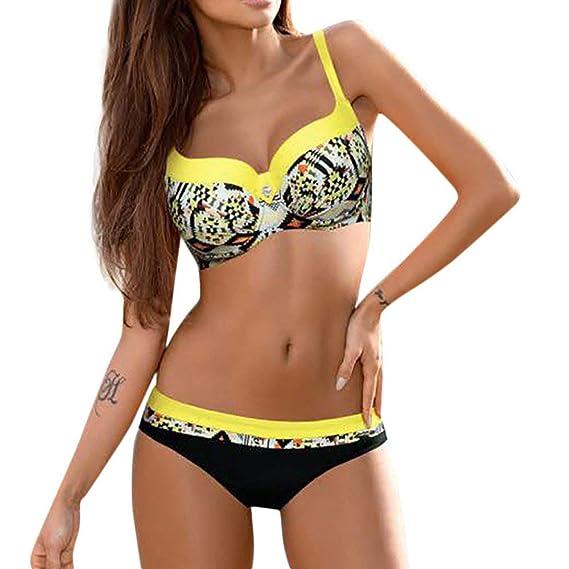 Bikini Mujer Tallas Grandes Tangas sexys Mujer Sujetador Sexy Conjunto Push Up Traje de baño Mujer Dos Piezas brasileño Ropa de Playa POLP Bañadores de ...