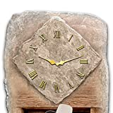 John Wayne Limited Edition Tribute Wall Clock with Sculpted Stone Look by The Bradford Exchange