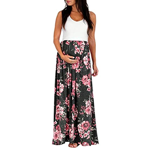 Amazon Minisoya Pregnant Women Long Maxi Dress Casual