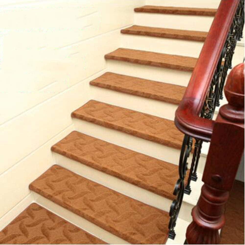KY&CL Manta Antideslizante de Escalera, escaleras de Escalera de pisadas no Slip Juego Interior de 1 alfombras de Escalera Cubre Alfombrillas, (75 * 24cm),A,75 * 24 * 3cm: Amazon.es: Hogar