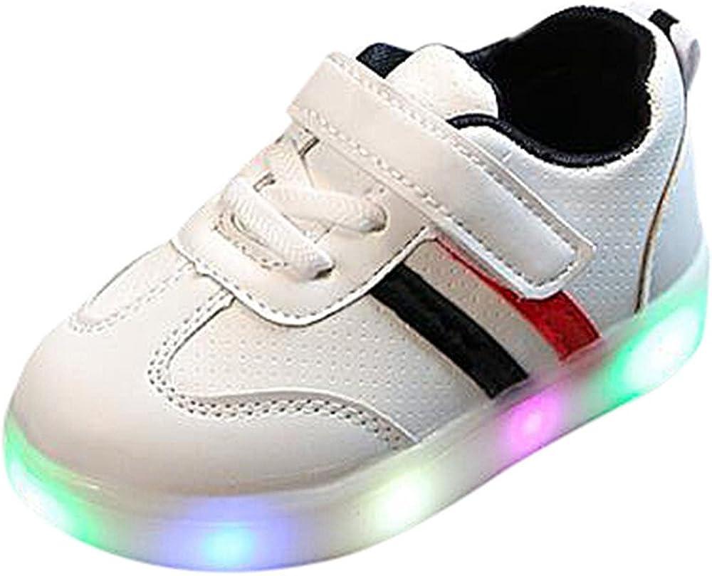 APTESOL Ni/ños Juventud LED Light up Trainers Ni/ños Ni/ñas High Top Cool Intermitente Zapatos Unisex Zapatillas
