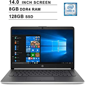 2020 Newest Premium Flagship HP Pavilion 14 Inch Laptop (Intel Core i3-7100U 2.4GHz, 8GB RAM, 128GB SSD, 802.11b|g|n, Bluetooth, HDMI, USB Type-C, Windows 10)