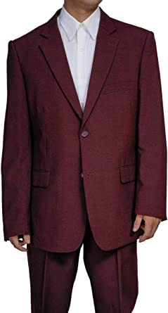 0ff00a6cff New Era Factory Outlet Mens 2 Button Burgundy Dress Suit 38 L, 32 Waist