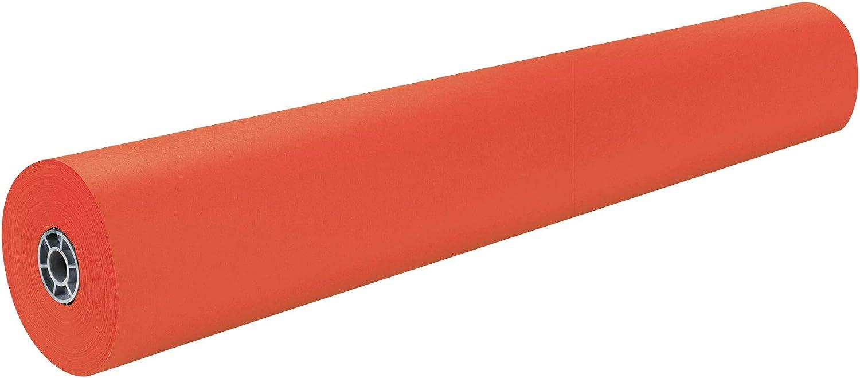 Pacon Rainbow Lightweight Duo-Finish Kraft Paper Roll, 3-Feet by 1000-Feet, Orange (63100)