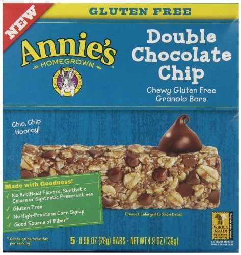 AnnieS Chewy Gluten Free Granola Bars Double Chocolate Chip 0.98 Oz Bars (Pack of 12) by Annie's Homegrown by Annie's Homegrown