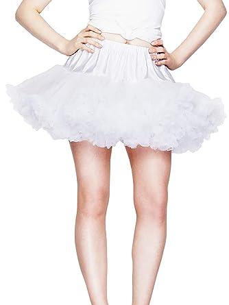 Hell Bunny - Falda - enaguas - Básico - para mujer Weiß XS-M ...