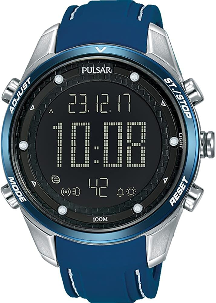Pulsar x Reloj para Hombre Digital de Cuarzo con Brazalete de Silicona P5A025X1
