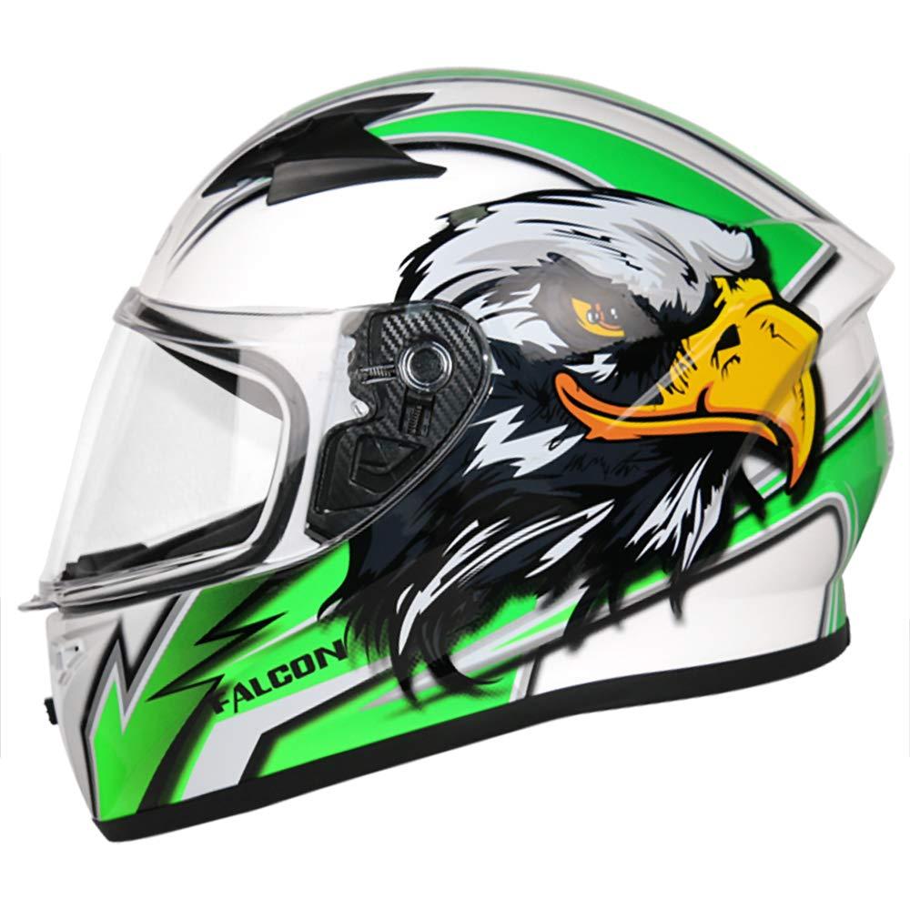 55-56cm #5 Hawk Blue S Leopard LEO-817 Falcon Full Face Motorbike Motorcycle Crash Helmet Road Legal