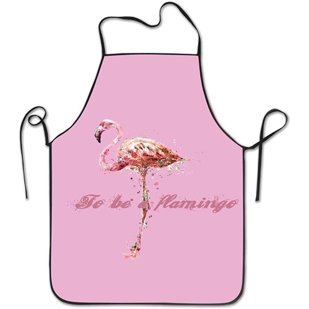 starotorエプロンto be a flamingoユニセックス料理キッチンシェフエプロンよだれかけ   B07F6H33BV