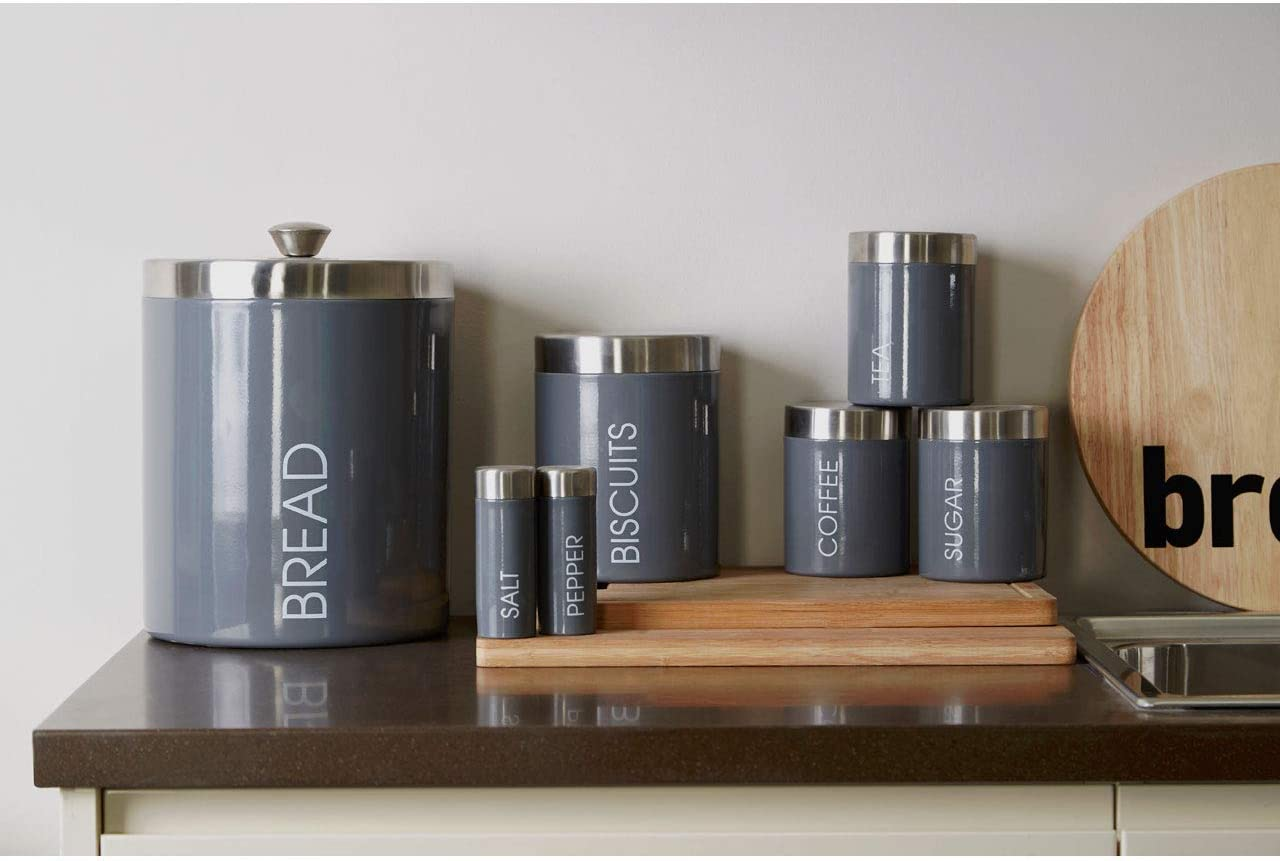 Acero Inoxidable Premier Housewares Liberty Tea 10 cm Coffee and Sugar Botes para el T/é el Caf/é y el azucar-Juedo de 3-Pistacho