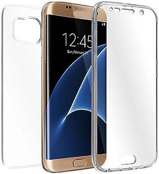 REY Funda Carcasa Gel Transparente Doble 360º para Samsung Galaxy S7 Edge, Ultra Fina 0,33mm, Silicona TPU de Alta Resistencia y Flexibilidad: Amazon.es: Electrónica