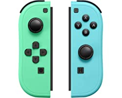 Joy-Pad Controller Compatible with Switch,Left and Right Controllers with Grip Support Wake-up Function(Blue and Green)