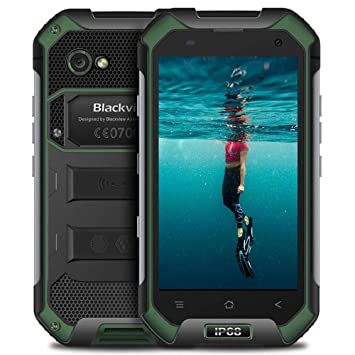 "Blackview BV6000s - Rugged Phone (4.7"" HD, 2GB RAM + 16GB ROM, IP68 Impermeable, 4500mAh Batería, Cámara 8MP+2MP, Movil Todoterreno Android 7.0, Dual ..."