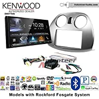 Volunteer Audio Kenwood DMX7704S Double Din Radio Install Kit with Apple CarPlay Android Auto Bluetooth Fits 2006-2012 Mitsubishi Eclipse With Rockford Fosgate Systems