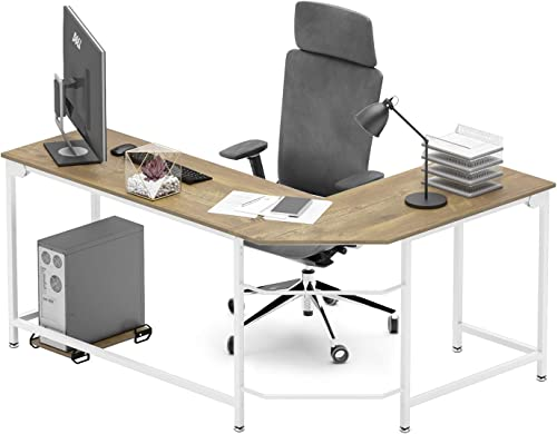 Weehom 66 Inch L Shaped Desk Corner Computer Desks