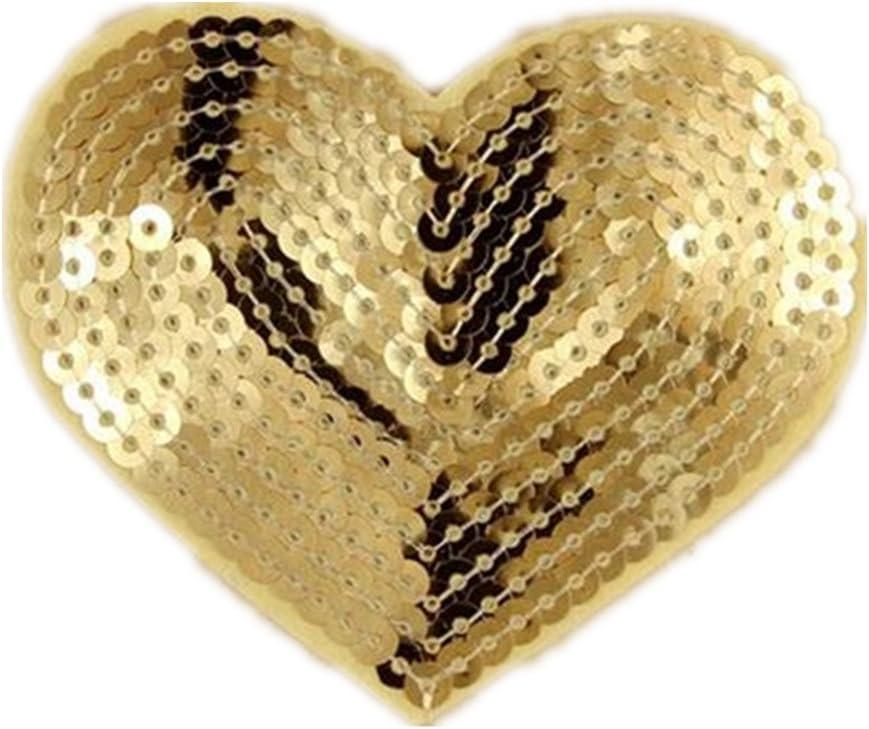 Parches de lentejuelas con forma de corazón, 5 unidades, se pueden ...