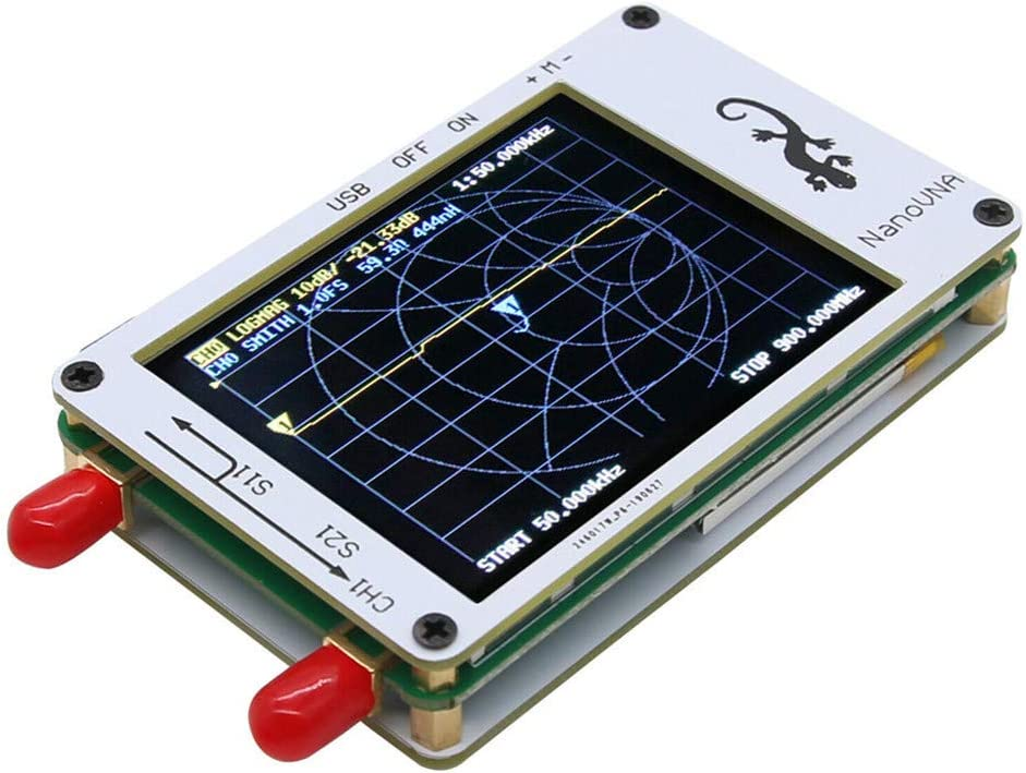 Analizador de Red Vectorial NanoVNA Javpoo 50KHz-900MHz ...