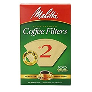 Melitta Cone Coffee Filter Number 2, Natural Brown, 100 Count, 2 Pack