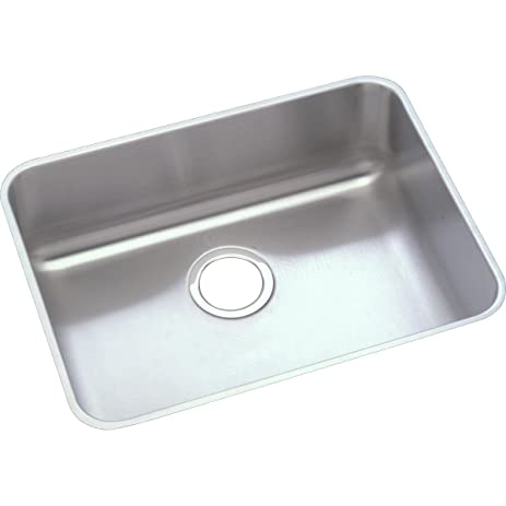 Medium image of elkay lustertone eluhad191645 single bowl undermount stainless steel ada kitchen sink