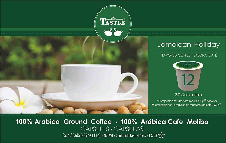 Amazon.com : Cafe Tastlé Jamaican Holiday Single Serve Coffee, 12 Count : Grocery & Gourmet Food