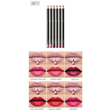 Ladiy Makeup Cosmetic Matte Long Lasting Waterproof Soft Cream Lipstick Lip Liner Lip Liners