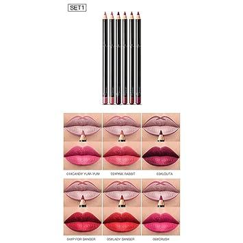Adoeve Makeup Cosmetic Matte Long Lasting Waterproof Soft Cream Lipstick Lip Liner Lip Liners (6 Pcs)