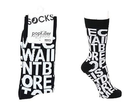 Amazon.com: Hombres Calcetines de tipografía Cartas: Clothing