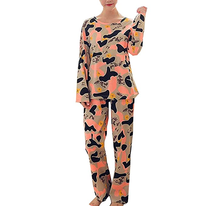 Pijamas De Manga Larga Mujer Otoño Invierno Camuflaje ...